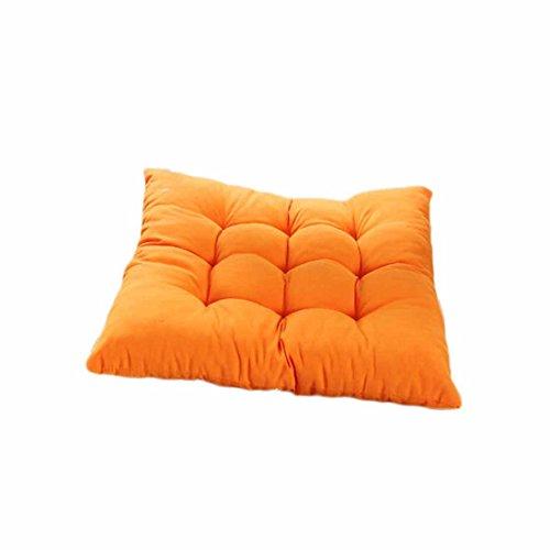 Coussin de chaise, Autumnfall (TM) Nouveau souple Home Office Décoration, fesses, Coussin d'assise, Coussin de chaise, chaise Coussinets, Tissu éponge, Orange, 40 x 40 cm