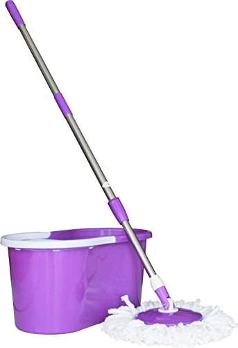 Princeware 6207 360-Degree Magic Mop (Purple)