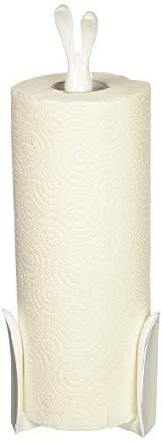 koziol Küchenrollenhalter ROGER, Kunststoff, solid weiß, 11,6 x 12,3 x 33,4 cm