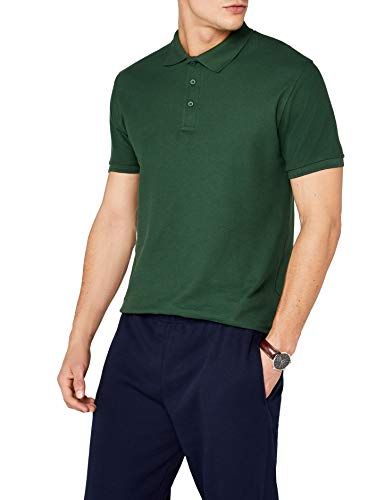 Fruit of the Loom 63-218-0, Polo para Hombre, Verde (Bottle Green), L