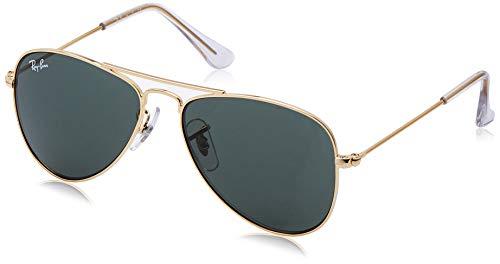 Ray-ban 9506s, occhiali da sole unisex bambini, verde (gold/green classic), 50