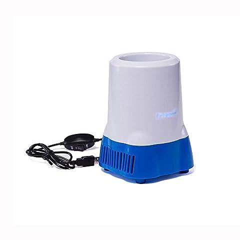 HuanLeBao USB 750ML Kühlbox, zum warmhalten oder kühlen Auto / Familie? Halbleiter-Kühlung Mini-Kühlschrank Weiß Blau , White blue , 750ml