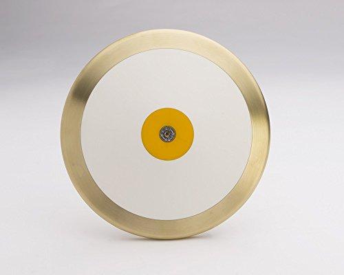 Fünf Star World Class Gold Medal Professional Herren High Spin 2Kilo 84,5% Messing Rand Gewicht Track & Field Diskus. Einzeln Handgefertigt Excellence. Leichtathletik-Zertifiziert.