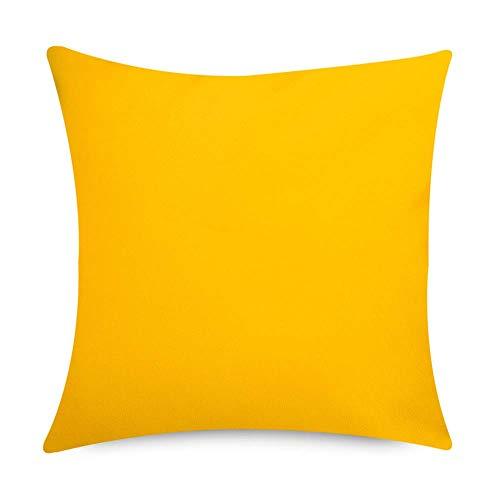 rtenkissen, 2er Pack, Gelb, 43cm x 43cm, Kissen Wasserabweisend, Textilfaserfüllung-, Dekoratives Zierkissen für Gartenbänke, Stühle oder Sofas ()