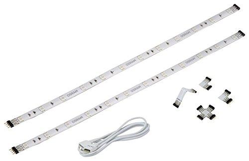 OSRAM flexible LED-Streifen Deco Flex AddOn-Set / selbstklebend / dimmbar / für farbige und weiße Lichtakzente / Farbsteuerung RGB / 2 Erweiterungs-LED-Stripes, inkl. Verbindern