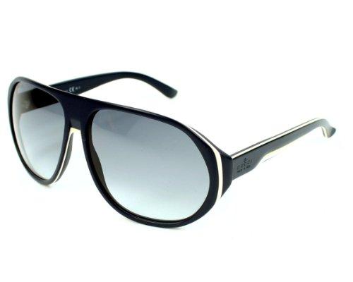 Gucci -  Occhiali da sole  - Uomo Blu Azul / Crema / Blanco 60 mm