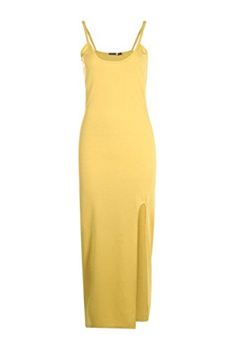 Or Femme Emmaline Strappy Thigh Split Midaxi Dress Or