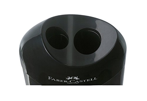 Faber-Castell 183500 Manual pencil sharpener Negro, Transparente – Sacapuntas (Manual pencil sharpener, Negro…