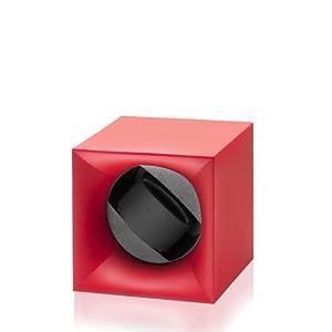 Swiss Kubik Uhrenbeweger Startbox für 1 Uhr Batteriebetrieb rot SK01.STB.004