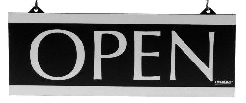 Headline Sign 4246Jahrhundert Serie wendbar geöffnet/geschlossen Zeichen, W/SUCTION MOUNT, 13x 5, schwarz (Mounts Zeichen)