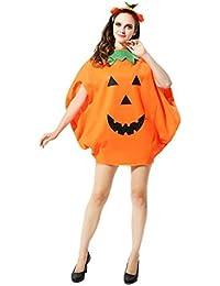 Preisvergleich für Wafalano Kürbis Kleid, Halloween Cute Cosplay Kostüm Kinder Vlies Kürbis Kleidung Vliesstoff (2 Stück)
