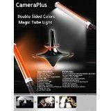 Camera Plus CP-MTLIID (2 Batterien eingestellt) - 55cm Magic Tube Licht Doppelseitig Farbe 298 LED-Lichtquelle für Kamera - All-in-One-Lösung für Fotografie und Videografie - Voraus Version von Ice Licht -