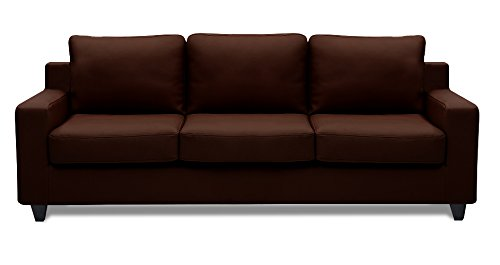 Dolphin Oxford Leatherette 3 Seater Sofa Set-Brown