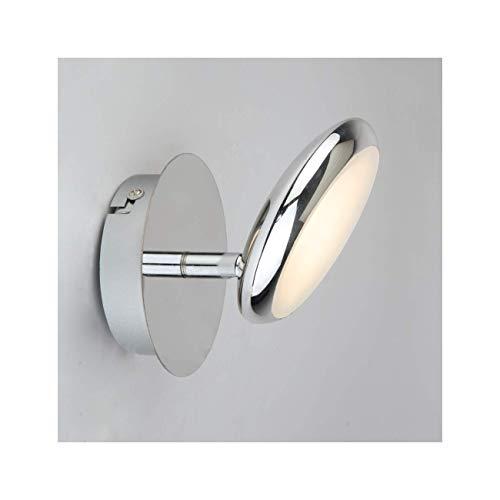 Petite applique circulaire chromée LED - Nassau KOSILUM - IP20 - Classe énergétique : A - 220/230V 50/60Hz - - 360 lm - Argenté / Chromé - Descriptif technique du luminaire :Culot de l'ampoule :LED intégrée | Nombre d'ampoules : | Indice de protection : IP20 | Puissance : | Tension : 220/230V 50/60Hz | Poids du luminaire : 0,31 kg | Poids du colis : 0,45 kg - KOSILUM
