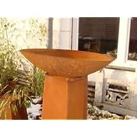 Edelrost Feuerschale Pflanzschale 70cm 1mm mit Ständer Gartendeko Metall Eisen