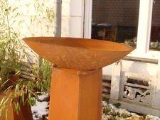 Feuerschale Pflanzschale Kerzen Edelrost Neu 50cm rund Gartendeko Metall Eisen