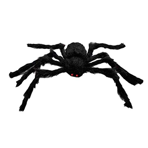 Toyvian 1 STÜCK 150 cm Scary Spooky Spinne Plüschtier Halloween Party Scary Dekoration Spukhaus Prop (Schwarz)