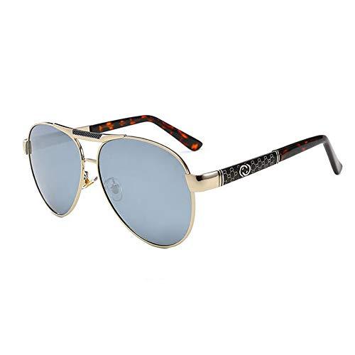 Weifan1 Herren Polarized Sonnenbrille UV-Schutz Anti-Glare Geeignet für Autofahren Reisen Angeln etc,silverframewaterchip