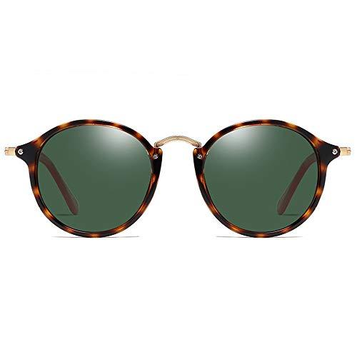 Lxc Polarisiert PC Material Sonnenbrille Schildpatt Rahmen Grün/Braun Objektiv Männer Und Frauen Mit Dem Gleichen Fahren Sonnenbrille Fahren Zeige Temperament (Farbe : Green)