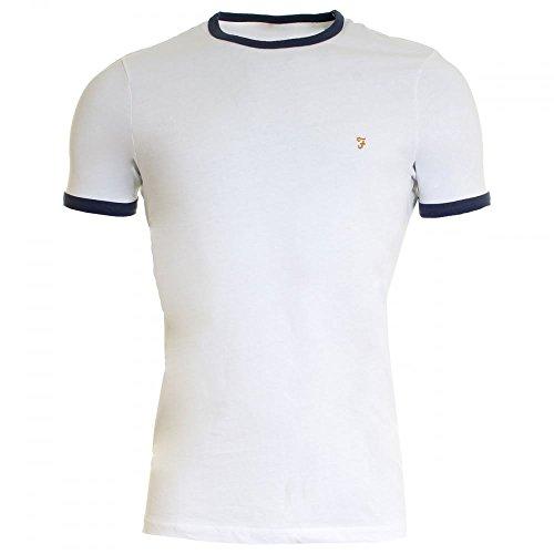FARAH® Herren T-Shirts Groves Ringer Ink Blue