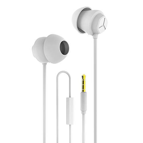 Docooler X110 Sleep Kopfhörer Anti-Lärm-In-Ear-Kopfhörer Ultra-Soft-Silikon-Ohrhörer 3,5-mm-Kabel-Headset Kompatibel mit iPhone Android-Smartphones 3,5-mm-ohrhörer