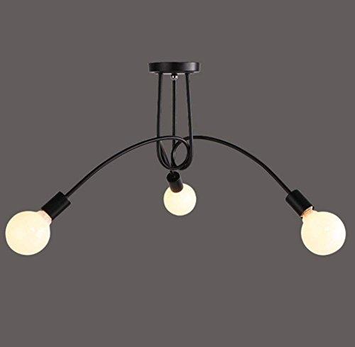 WHKHY Persönlichkeit Einfach Loft Fashiindustrial Style Bekleidungsgeschäft Scheinwerfer Unsichtbare Deckenleuchten Licht Unterputz Wand-Design,# 1 - Unterputz 1 Licht
