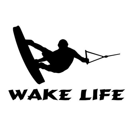 Adesivi per auto Adesivo per barche Sci nautico Wakeboarding Pesca entrobordo Adesivi per auto Adesivi in vinile Accessori 17,8 cm * 11,5 cm 1 pz