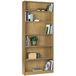 Maine altura amplia librería-efecto madera de roble.