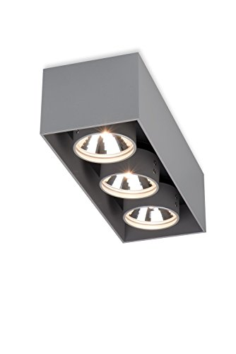 Mawa Design wi-ab-kb Aufbaustrahler - metallic - LED - vier Strahler - Design - Deckenleuchte - Wohnzimmerleuchte - Metallic Pulverbeschichtet