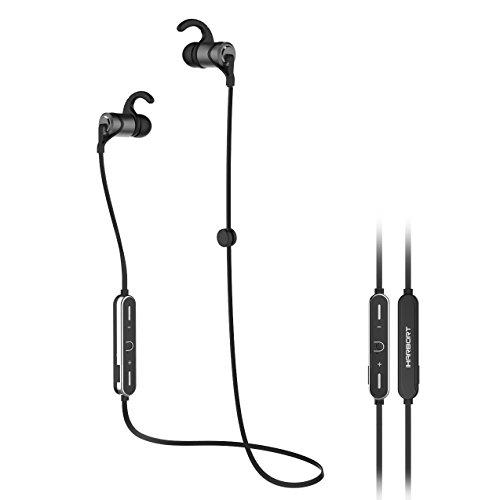 iHarbort® drahtlose Bluetooth Kopfhörer Sport magnetische Ohrstöpsel mit integriertem Mikrofon APTX und sichere fit für Sport, Fitness, Workout für alle Smartphones und andere Bluetooth-Geräte, Grau
