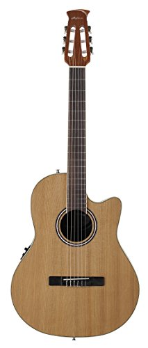 Ovation Applause E-Akustikgitarre mid Cutaway Nylon AB24CII-CED Natural Satin (Pickup Nylon Guitar)