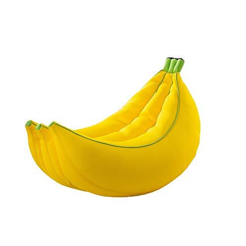 LF-STOOL Faules Sofa Bananenform Sitzsack Bequeme Liege Hohe Qualität Sandwich Mesh Stoffbezug Kinder Stofftier Organizer Geeignet for 150 kg (Size : 80cm) -