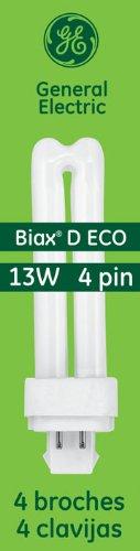 GE LIGHTING Energy Smart CFL 9759713-watt, 900Lumen Doppelter Boden Biax Glühlampe mit G24q-1warmwhite, 10er Pack