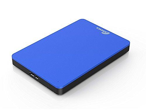 Sonnics 1TB Blau Externe tragbare Festplatte USB 3.0 super schnelle Übertragungsgeschwindigkeit für den Einsatz mit Windows PC, Apple Mac, XBOX ONE und PS4 Fat32 - Usb Festplatte 3 Tragbare