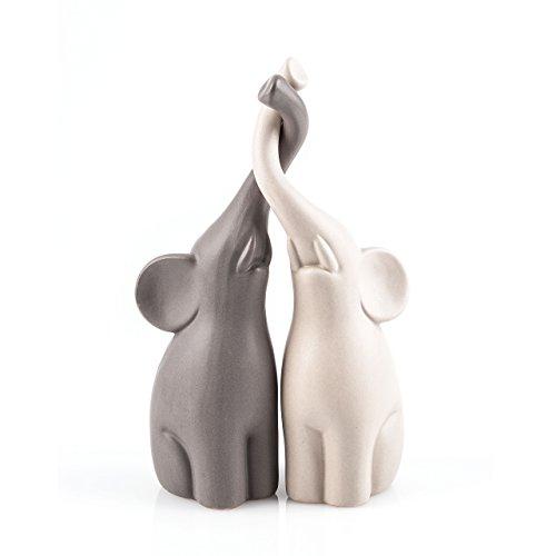 "pajoma Figuren ""Verliebte Elefanten"" 2er Set, Höhe 25,5 cm"