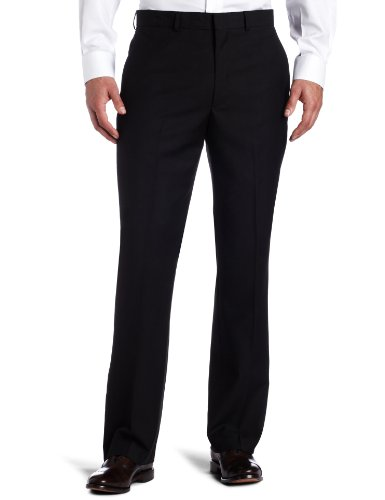 Kenneth Cole REACTION Men's Black-Solid Suit Separate Pant