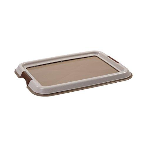 IRIS, Welpentoilette / Training Pad Halter für Hunde / Tablett für Trainungsunterlagen \'Pet Tray\' FT-495, Kunststoff, beige, 49 x 36,5 x 3,2 cm