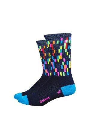 DeFeet–Socken DEFEET AIREATOR Barnstormer Pixel Blau Marineblau, S: 36-39,5 (Socken Blau Defeet)
