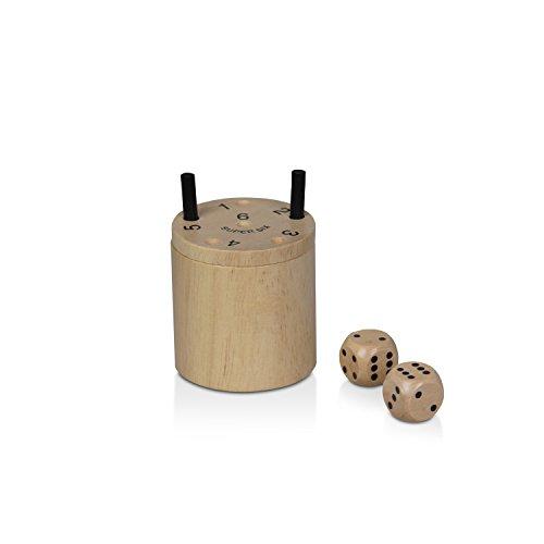 BestSaller 3030 SUPER SIX Holz – auch für die Reise, 36 Spielstäbchen & 2 Würfel, natur (1 Stück)