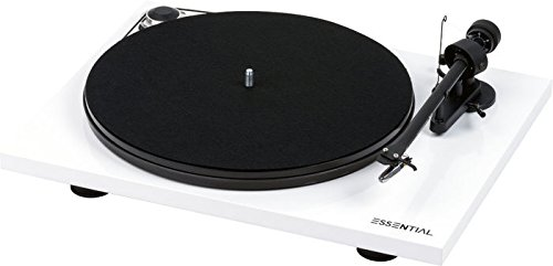 Project Essential III OM10e Blanc Platine Vinyle Audiophile