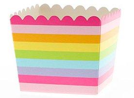 6 Regenbogen-Block-Streifen Snack-Schachteln (Kuchen Maler)