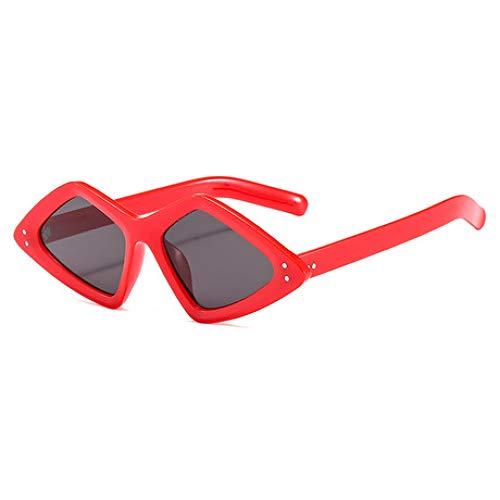SPFAZJ Sonnenbrillen 2019 Neue Persönlichkeit Reis Nagel Sonnenbrillen Trend Große Dreieck Mode Sonnenbrille