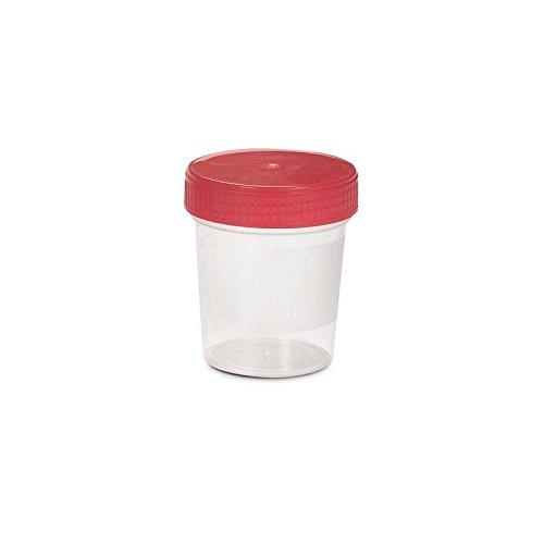 takestop® Set 12Stück Behälter-Analyse der Urin steril 150ml mit Schraubdeckel luftdicht Einweg Skala