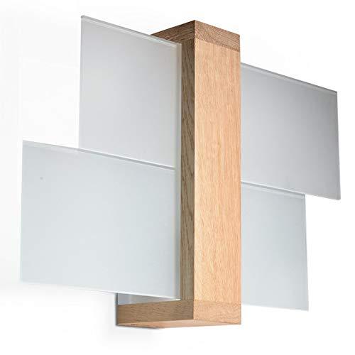 Sollux lighting feniks 1 - lampada da parete, in legno naturale