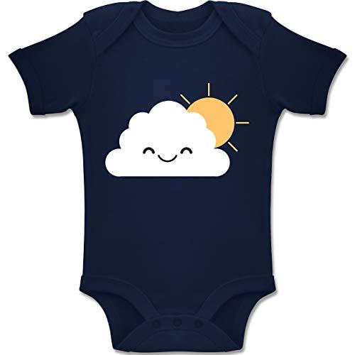 Kostüm Sonnenschein Baby - Shirtracer Karneval und Fasching Baby - Wolke Karneval Kostüm - 3-6 Monate - Navy Blau - BZ10 - Baby Body Kurzarm Jungen Mädchen