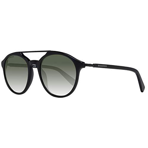 Dsquared2 Unisex-Erwachsene DQ0244 01N 50 Sonnenbrille, Schwarz,