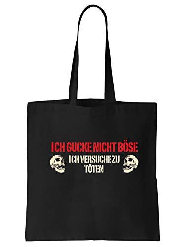clothinx Ich Gucke Nicht Böse Ich Versuche Zu Töten Einkaufstasche ()