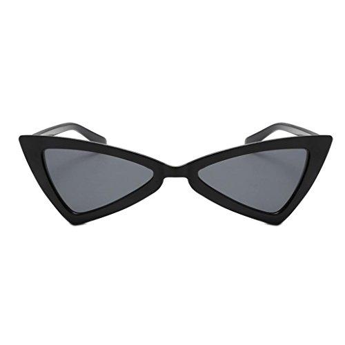 Dragon868 Frauen Vintage Cateye Rahmen Shades Acetat Rahmen UV Gläser Sonnenbrille (D)