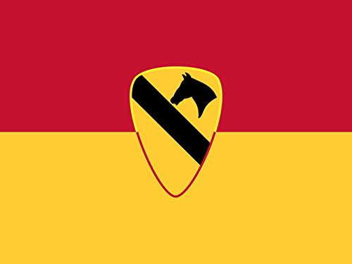 magFlags Flagge: Large U.S. Army 1st Cavalry Division | United States Army 1st Cavalry Division | Querformat Fahne | 1.35m² | 100x130cm » Fahne 100% Made in Germany - Fahne S Garten Ersten