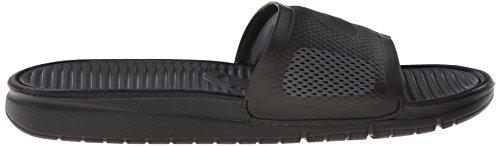 Nike Herren Benassi Solarsoft Slide Basketballschuhe Black (Schwarz / Schwarz-Dunkelgrau)